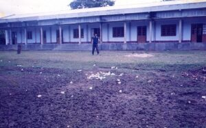 Old assam type building of the college